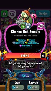 kitchen sink zombie plants vs zombies wiki fandom powered by