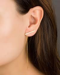 front and back earrings s chain earrings bar earrings sterling silver