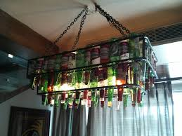 beer bottle light fixture beer bottle chandelier diy pictures natures art design