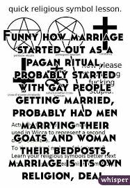 how marriage started out as a pagan ritual probably started with