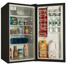 haier mini fridge with glass door haier hc40sg42s 4 0 cu ft compact refrigerator with half width