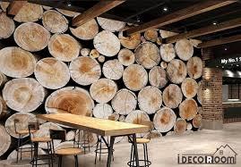 pile of wood poster restaurant wall murals wallpaper decals