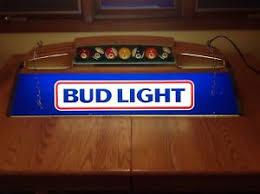 bud light pool table light vtg 1987 budweiser bud light beer poker pool table light bar pub ebay