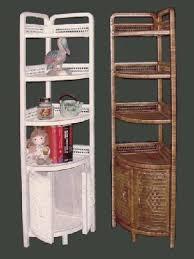 Bathroom Tall Corner Cabinet by Wicker Storage Shelves Wicker Corner Cabinet Tall Shelf