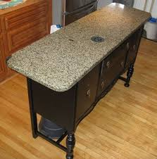 buffet kitchen island repurposed buffet kitchen sink customer used buffet base re