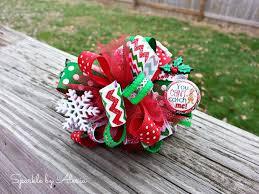 loopy bow christmas gingerbread loopy hair bow on luulla