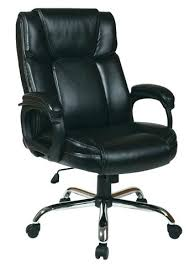 Extra Big Man Office Chair Star Work Smart Executive Black Leather