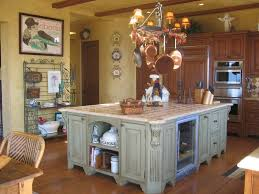 Country Style Home Interior by Decoration Ideas Cozy Green Wooden Kitchen Island And Walnut