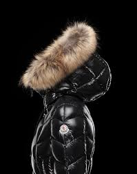 fortable moncler belloy women coats long black with fur