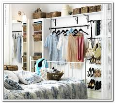 clothing storage ideas for small bedrooms wonderful small bedroom no closet solution betweenthepagesclub