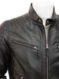 black leather biker jacket mens black biker leather jacket maikop men caine