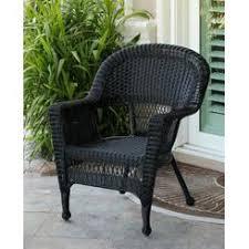 Black Resin Patio Furniture Black All Weather Wicker Furniture