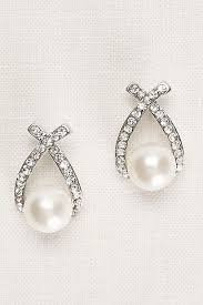 wedding earrings drop bridal earrings for your wedding david s bridal