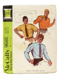 long in back short 60s in front 60s retro sewing pattern 1969 mccalls 9681 mens sewing pattern