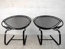 Vintage Homecrest Patio Furniture - pair mid century modern iron cantilever patio chairs by tempestini