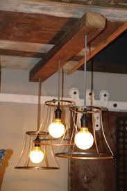 Wood Beam Light Fixture Vintage Shades On A Reclaimed Wood Beam Light Chandelier Funk Junk