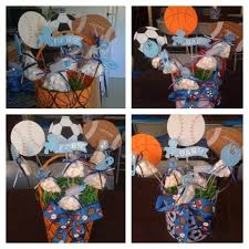 sports themed baby shower decorations sports themed baby shower centerpieces baby shower diy regarding