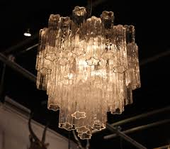 interior sparkly glass chandelier crystals ornament for
