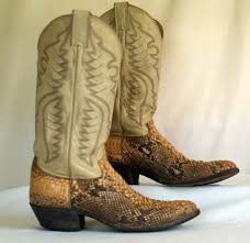 snakeskin cowboy boots old dirty cowboy boots vintage dan post