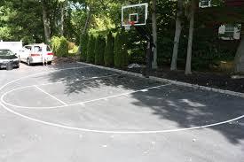 parking lot turned basketball court basketball hoop photo album