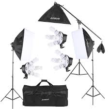 Photography Lighting Kit Andoer Studio Photo Softbox Lighting Kit Photo Equipment 15