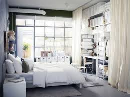 Bedroom Cool White Color Interior Small Room Storage Ideas - Ikea bedroom ideas small rooms