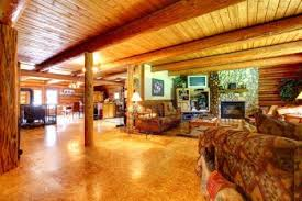 wooden ceiling of log cabin updated bedroom decorating ideas has