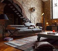 industrial home interior 35 ideas give your home a rustic or industrial touch with brick