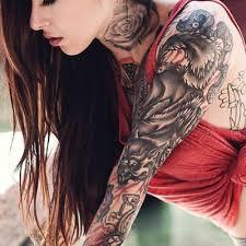 tattify tattoo hair floral rose wolf tattoos neck tattoos