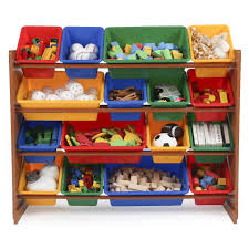Toy Storage Furniture by Tot Tutors Focus Super Sized Toy Storage Organizer With 16 Plastic