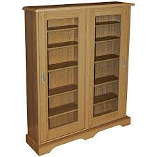 Media Storage Cabinet Hampstead 432 Cd Or 216 Dvd Blu Ray Media Storage Cabinet Oak