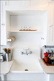 kitchen chic floating shelf and white kitchen cabinets also