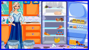 watch frozen elsa fridge cleaning video episode for kids cleaning