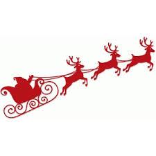 santa sleigh and reindeer silhouette design store view design 69982 santa sleigh and