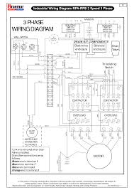 component phase motor control wiring diagram speed pole contactor