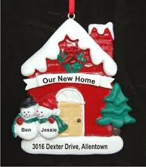 snow new home personalized ornaments by