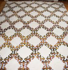 hand knotted all wool moroccan trellis area rug ebth