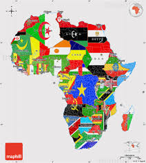 Maps Of Africa by Flag Map Of Africa