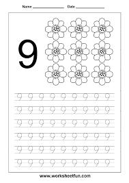 number tracing worksheet 9 matte jobb pinterest printable