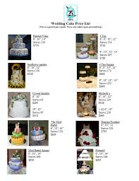 wedding cake price vauna s cakes wedding cake price list