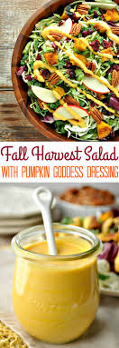 healthy thanksgiving side dish fall harvest salad with pumpkin