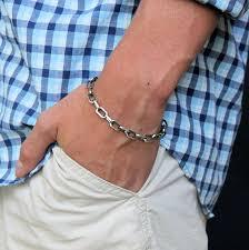 mens silver bracelet chain images Mens cable chain bracelet mens sterling silver bracelet jpg