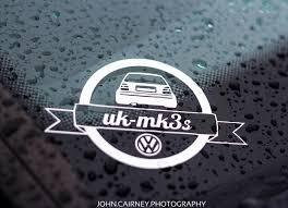 vw logos vw golf mk3 vr6 gti ukmk3 u0027s rear end logo decal sticker ebay
