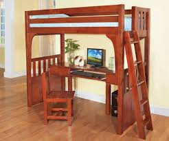 Bunk Beds  Kids Toy Storage Full Bunk Bed With Desk Underneath - Full bunk bed with desk