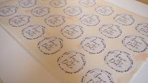 Save The Date Wedding Stickers 24 Pack Design