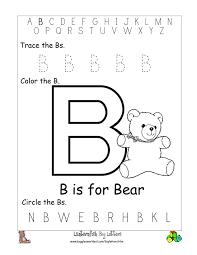 letter b worksheets gplusnick