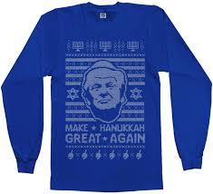hanukkah t shirts donald make hanukkah great again sweater