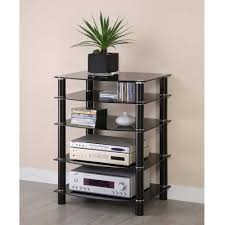 Audio Cabinet Rack Walker Edison Multilevel Hifi Rack With Reviews Home Best Furniture