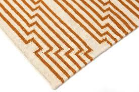 Flat Rug Optik Flat Weave Rug Caramel Aelfie