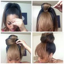 natural hair bun styles with bang holiday hairstyle ideas follow for more styles www